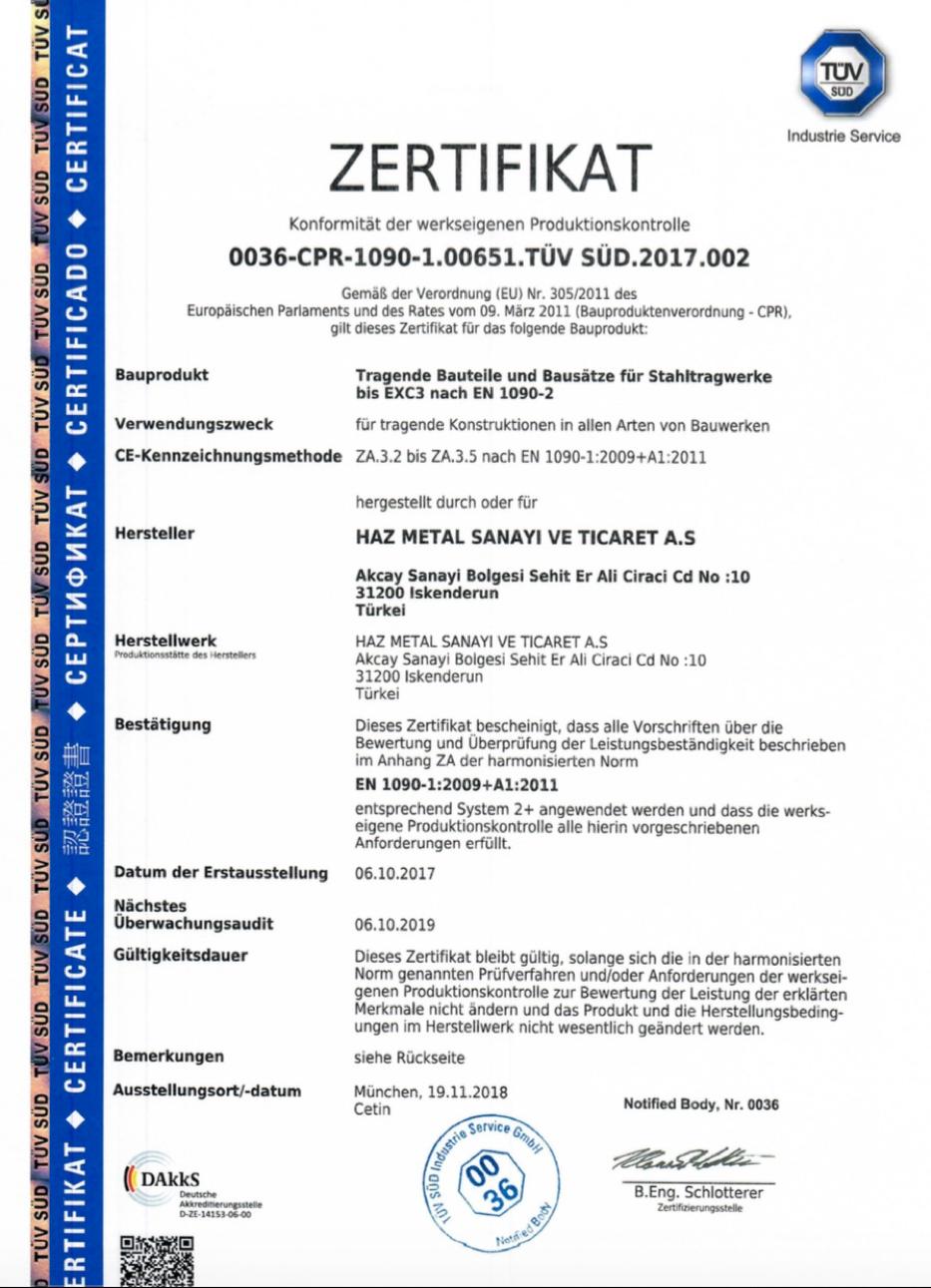 ISO 1090 Deckblatt