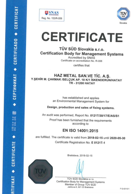 ISO 14001 Deckblatt